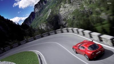 Athah Alfa Romeo 8C Competizione Poster Paper Print