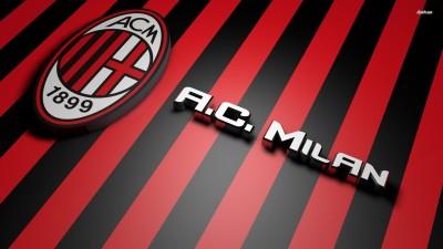 A.C. Milan Logo Athah Fine Quality Poster Paper Print
