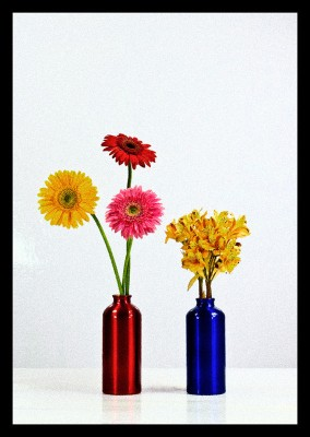 Flowers in Two Vases 12 Paper Print(62 inch X 44 inch)