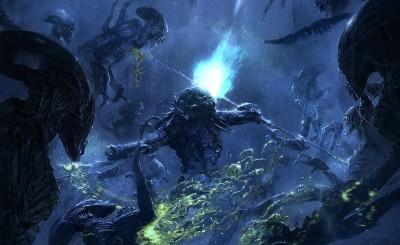 Movie AVP: Alien Vs. Predator Alien Vs. Predator Avp Predator Thriller Horror Space Marine Alien Sci Fi HD Wall Poster Paper Print