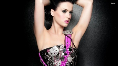 Katy Perry in a Hello Kitty Dress Athah Fine Quality Frameless Poster Paper Print