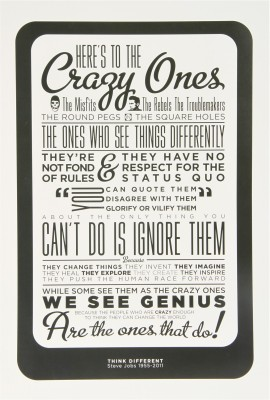 Steve Jobs - Think Different Paper Print(18 inch X 12 inch, Rolled)