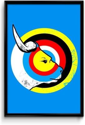 Athah Fine Quality Poster Bulls Eye Fine Art Print