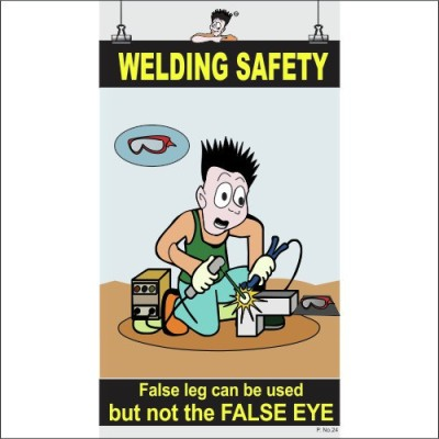 Spooky Poster-Welding Safety Paper Print