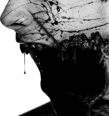 Music Bleeding Through Band (Music) United States Dark Zombie Blood Undead Flesh Death Fantasy HD Wall Poster Paper Print