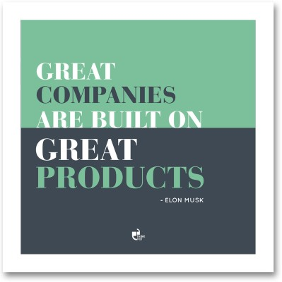 Great companies are built - Elon Musk White Square Frame Photographic Paper