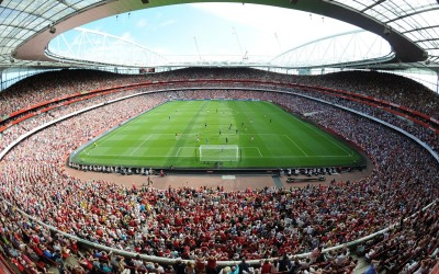 Sports Stadium Emirates Soccer Emirates Stadium The Field The Stands The Fans Arsenal F.C. Soccer Club The Gunners Gunners Sky HD Wall Poster Paper Print