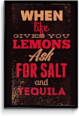 Lmon,Salt and Tequila Canvas Art