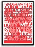Lab No. 4 What Ever You Do, Do It Well Walt Disney Motivational And Inspirational Quotes Framed Poster Paper Print(16.5 inch X 11.5 inch)