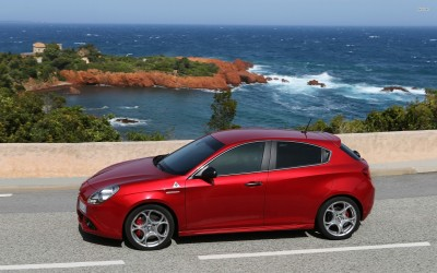 Athah Red 2014 Alfa Romeo Giulietta Poster Paper Print