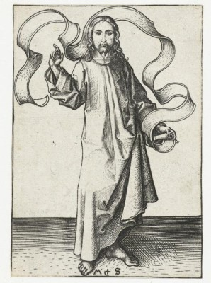 The blessing Christ. 1470-1490 (Medium) Paper Print