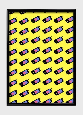 Minimal Cellphone Pattern Canvas Art