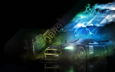 Athah Aston Martin DBR9 Poster Paper Print