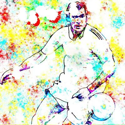 Posterhouzz Zinedine Zidane Art Paper Print