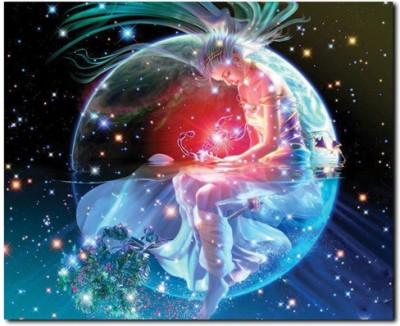 Stybuzz Scorpio Horoscope Frameless Canvas Art(22 inch X 18 inch)