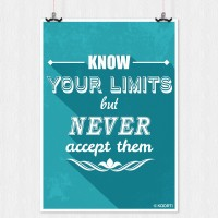 KAARTI Know Your Limits But Never Accept Them (Large) Jumbo Poster Paper Print(36 inch X 24 inch, Rolled)
