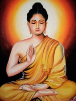 Oshi - Buddha Fine Art Painting (2) Paper Print(16 inch X 12 inch, Streched)