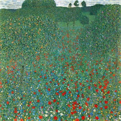 Poppy Field by Klimt Print Paper Print