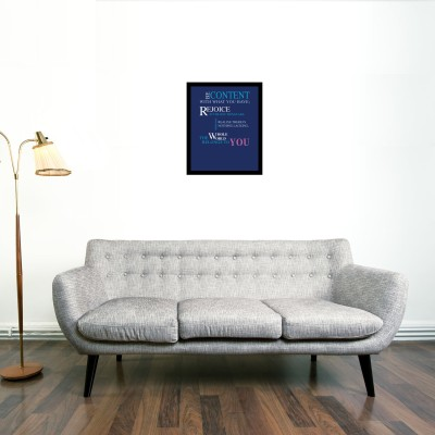 Blue Quote Framed Wall art With glass Photographic Paper