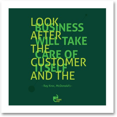 Look after the customer - Ray Kroc, McDonalds White Square Frame Photographic Paper