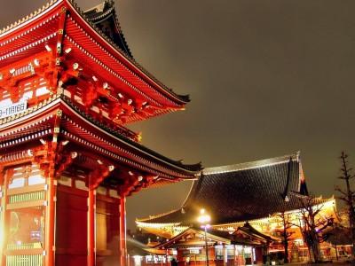 Sensoji Temple Tokyo City Walking Tour Poster Paper Print