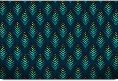 3D Blue Raised Surface Pattern Paper Print