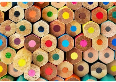 Athah Fine Quality Poster Multi-Colored Pencils Paper Print