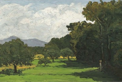 The Museum Outlet Landscape near Aix-en-Provence, 1865 (Medium) Canvas Painting