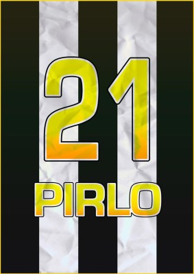 Pirlo Juventus Soccer 21 A3 NON TEARABLE High Quality Printed Poster - Wall Art Print (Size : 11.7 x 16.5) , For Bedroom , Living Room, Kitchen, Office, Room Paper Print