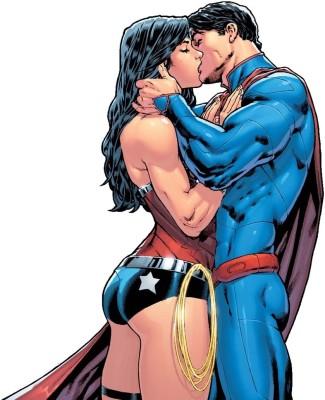 Superman/Wonder Woman Superman Frameless Fine Quality Poster Paper Print