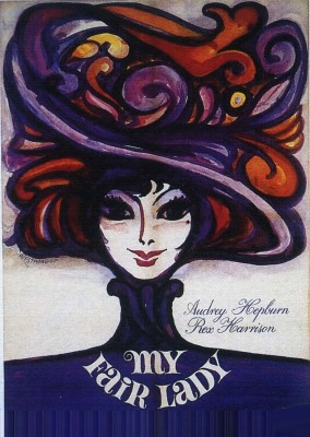 Athah Poster My Fair Lady Illustration Paper Print