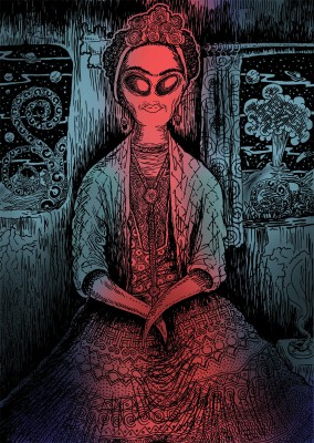 The Alien Frida Paper Print