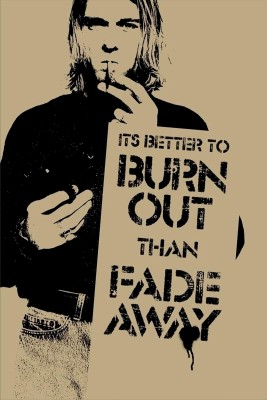Oshi - Its Better To Burn Out Then Fade Away Paper Print