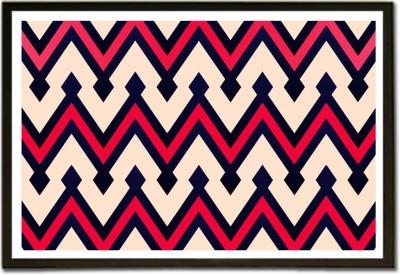 Framed Zig-Zag Sharp Lined Pattern Paper Print