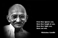 Oshi - Mahatama Gandhi Motivational Quote (2) Paper Print(12 inch X 18 inch, Streched)