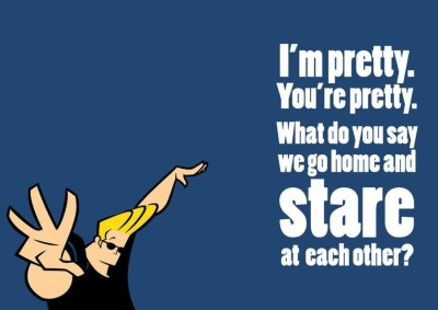 Athah Poster Johnny Bravo - I Am Pretty A NON TEARABLE Paper Print Rolled In Cardboard Tube Paper Print