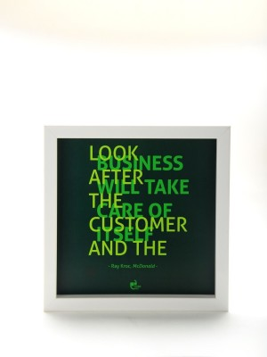 Athah Thinkpot Look after the customer - Ray Kroc McDonalds White Bo Paper Print Paper Print
