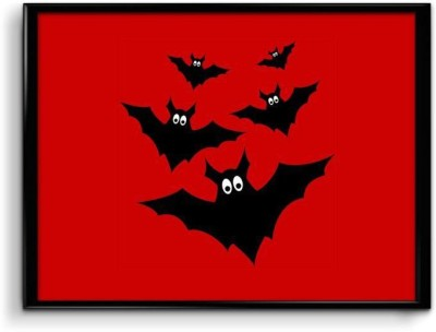 Scared Bats Paper Print