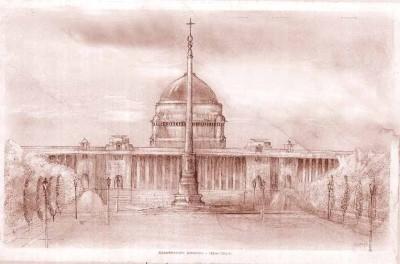 Rashtrapati Bhavan (President House), New Delhi Fine Art Print