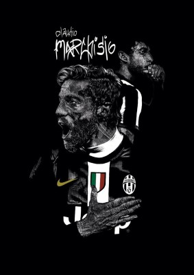 Marchisio - Juventus A4 Cotton Canvas High Quality Printed Poster - Wall Art Print (Size : 8.2 x 11.6) , For Bedroom , Living Room, Kitchen, Office, Room Canvas Art