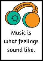 Shoping Inc Music Is What Feelings Sound Like Laminated Framed Poster Paper Print(19 inch X 13 inch, Framed)