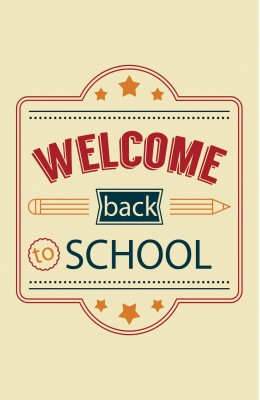 Welcome Back To School White Background Photographic Paper