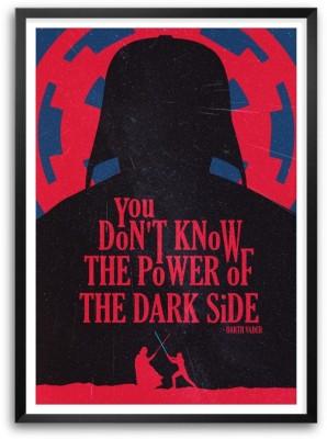The Power Of Dark Side Darth Vander Movie Quotes Paper Print