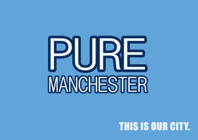 Manchester City: Manchester is Pure Poster Paper Print