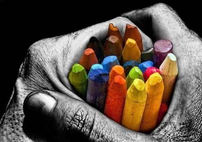 Color Pencils L-83 Paper Print