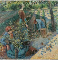 Tallenge Modern Masters Collection - Apple Picking by Camille Pissarro - Small Size Ready To Hang Gallery Wrap Canvas Painting