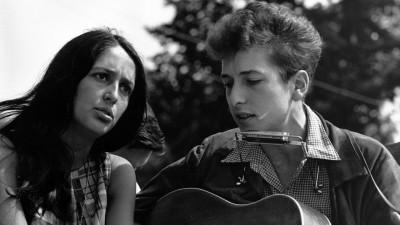 Wall Poster Bob Dylan & Joan Baez Bob Dylan Joan Baez Paper Print