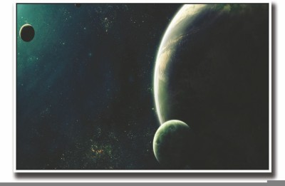 Athah Poster Posterhouzz Planets and Moons Fine Art Print Rolled Paper Print