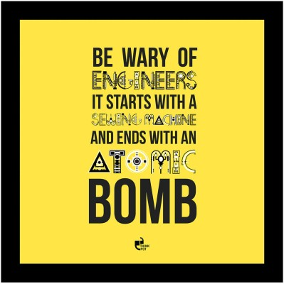 Be wary of engineers - Framed Poster Photographic Paper