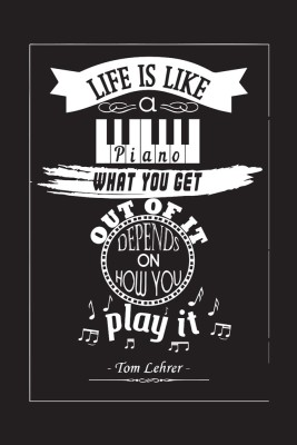 Motivational Quote Poster ,Life Is Like A Piano , Paper Print
